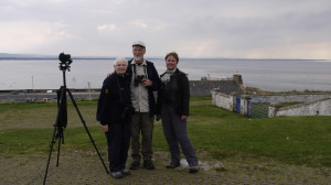 Fiona, Anthony and Cindy at Burghead.
