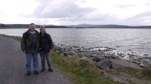 Anne and Graham at the end of a morning with Birding Ecosse