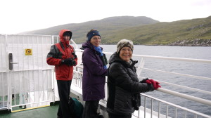 Gerald, Jackie and Jeanette getting ready for the Birding Ecosse Pelagic!