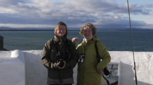 Helen and Pam at Burghead