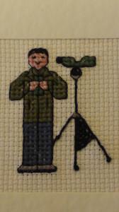Birding Ecosse in cross stitch action