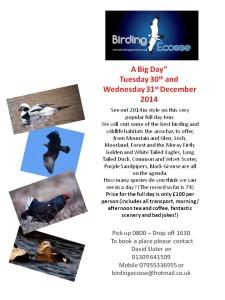 Join Birding Ecosse for a 2014 final fling!