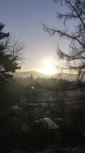 Grantown on a frosty Christmas morning