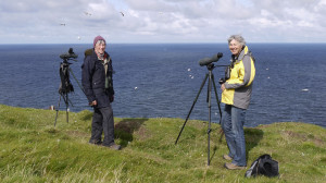 Margaret and Daphne at Troup Head
