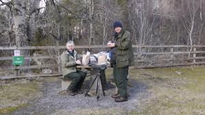 Olga and David enjoying lunch.