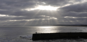 Crepuscular rays at Lossiemouth