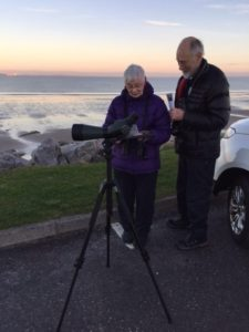 Fiona and Tony on a calm Moray Firth